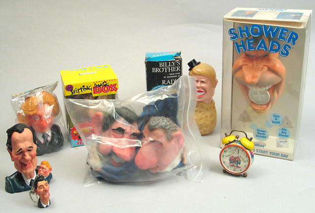A collection of presidential toys