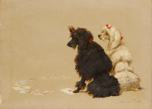 Maud Earl (British, 1863-1943) Poodles 17 7/8 x 24 in. (45.5 x 61 cm.)