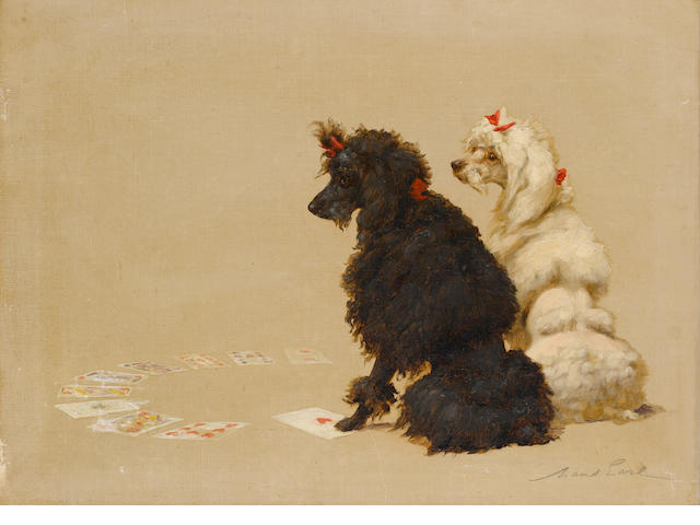 Maud Earl (British, 1863-1943) Toy Poodles