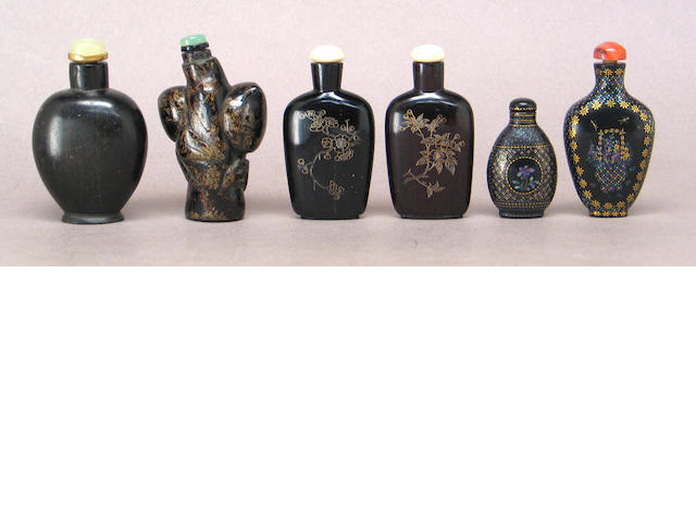 Six snuff bottles