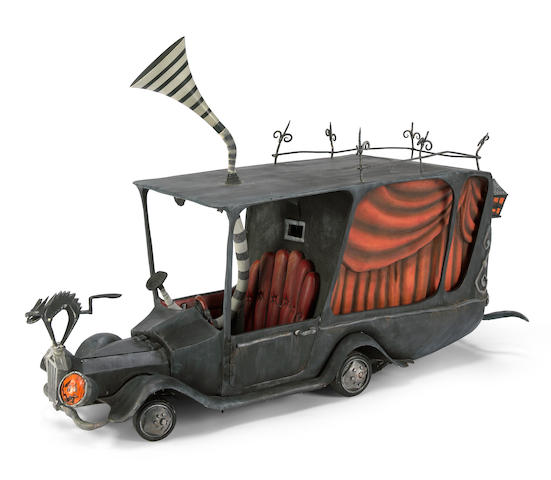 "A Touchstone Pictures prop of the mayor's hearse from ""Nightmare Before Christmas"""