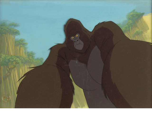 "A Walt Disney celluloid from ""Tarzan"""