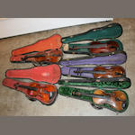 A group of five violins
