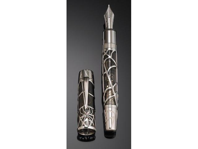 MONT BLANC: Skeleton Magical Black Widow rare Limited Edition