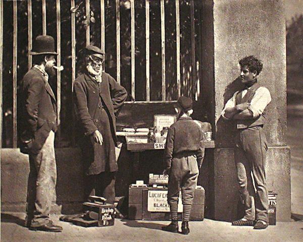 John Thomson (British, 1837-1921); Hookey Alf of Whitechapel; The Dramatic Shoe-Black, from Street Life in London; (2)