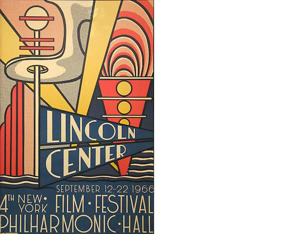 Roy Lichtenstein (American, 1923-1997); Lincoln Center Film Festival Poster;