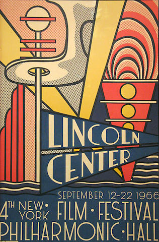 Roy Lichtenstein (American, 1923-1997); Lincoln Center Film Festival Poster;