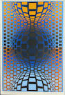 Victor Vasarely (Hungarian, 1906-1997); Untitled (Composition);