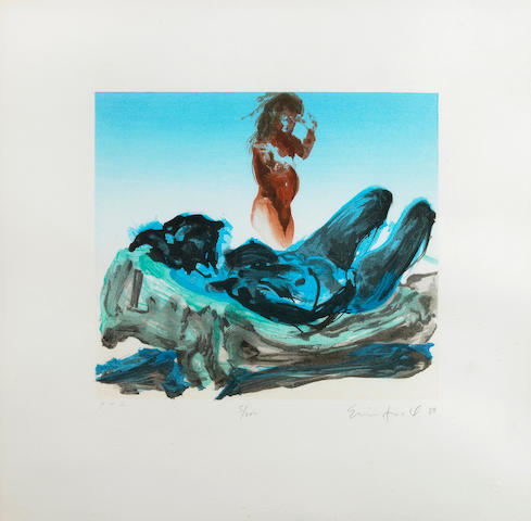 Eric Fischl (American, born 1948); Untitled (Reclining Nude);