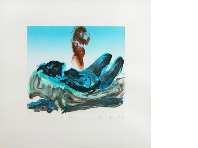 Eric Fischl (American, born 1948); Untitled (Reclining Nude);