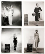 A Marilyn Monroe group of black and white wardrobe photographs, 1950s-1960s
