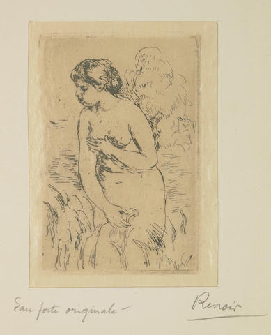 Renoir Baigneuse debout a me jambes 1910 etching/restrike