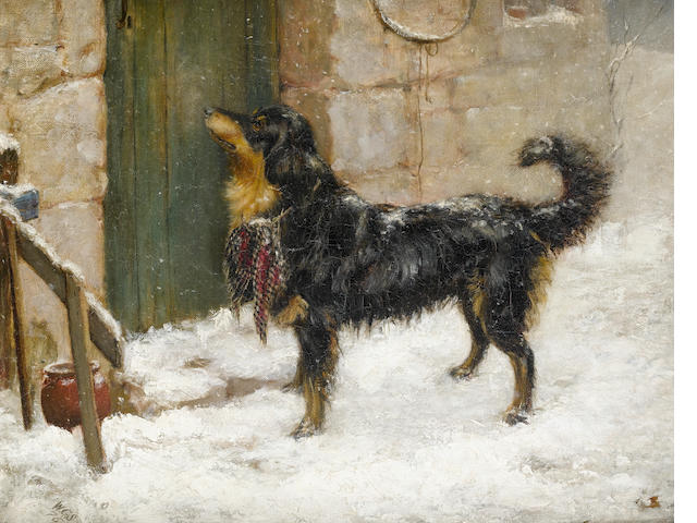 William Grant Stevenson (British, 1849-1919) Sent for assistance 16 5/16 x 20 in. (41.5 x 50.5 cm.)