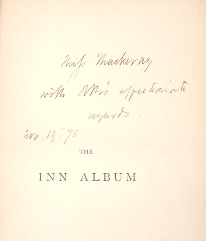 Browning, Robert - The Inn album, 1st ed inscribed by the author, along with algrace, Francis Turner - Lyrical Poems