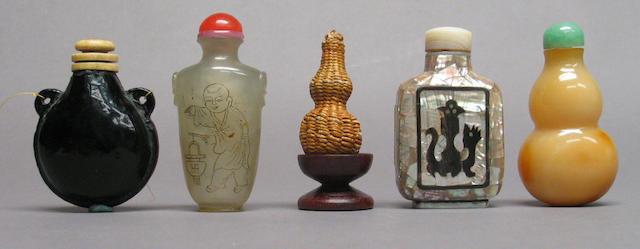 Five snuff bottles