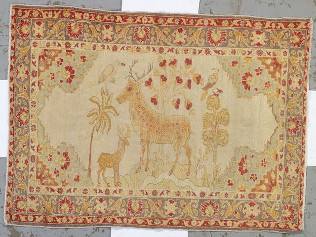 A Ghiordes rug West Anatolia, size approximately 4ft. 3in. x 5ft. 10in.