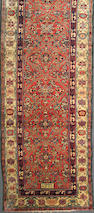 A Malayer runner size approximately 3ft. 9in. x 13ft. 9in.