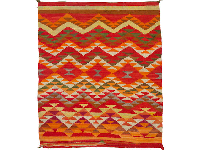 A Navajo transitional rug, 6ft 3in x 5ft