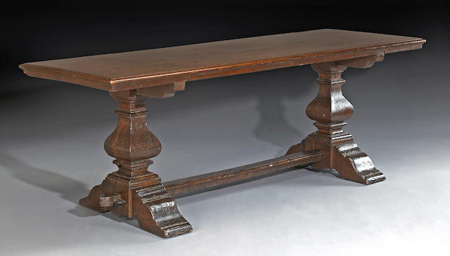 iTALIAN RENAISSANCE WALNUT refectory table