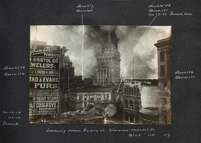 [San Francisco Earthquake. Photography.] Album of Photos depicting Aftermath of Earthquake & Fire, l