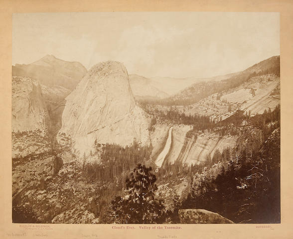 Eadweard Muybridge (British, 1830-1904); Cloud's Rest, Valley of the Yosemite, No. 40;
