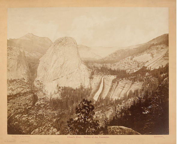 Eadweard Muybridge (British, 1830-1904); Cloud's Rest-View of the Yosemite, No. 40;