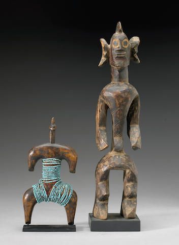 A Mumuye figure and a Namji doll