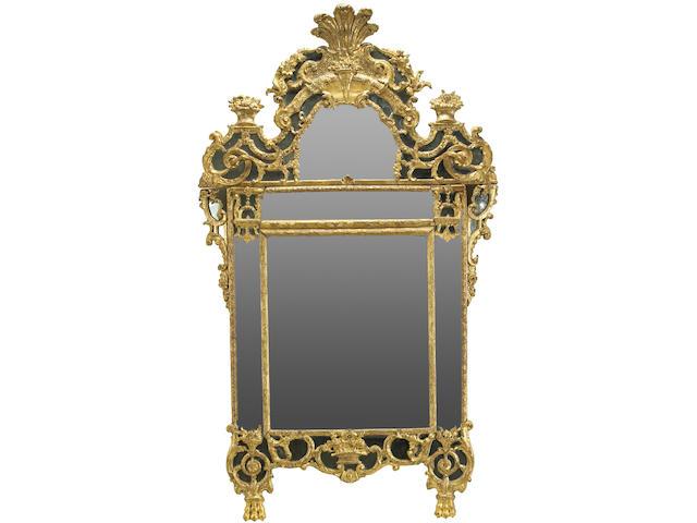 A good Régence giltwood mirror