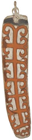 A war shield, Asmat height 84in