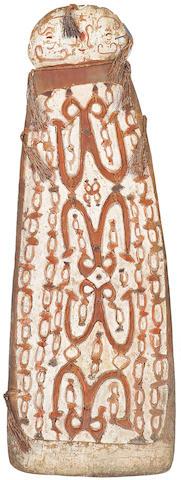 A War shield, Asmat height 64in