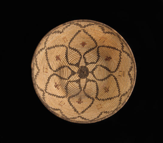 An Apache polychrome basket