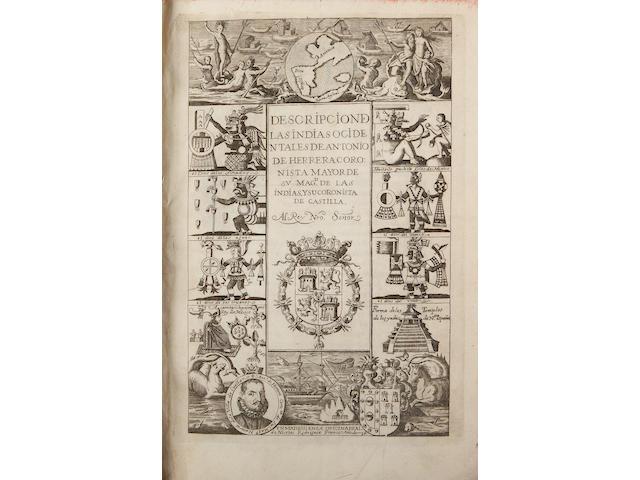 HERRARA Y TORDESILLAS, ANTONIO DE.  1559-1625.