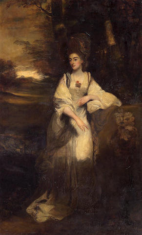After Sir Joshua Reynolds, PRA A portrait of Lady Catherine Bampfylde 94 x 58in (238.7 x 147.3cm)