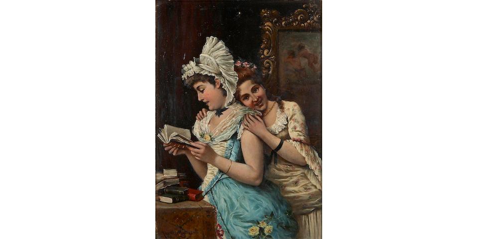 Angielo  Glisenti (Italian) Companionship 13 1/8 x 9 1/8in