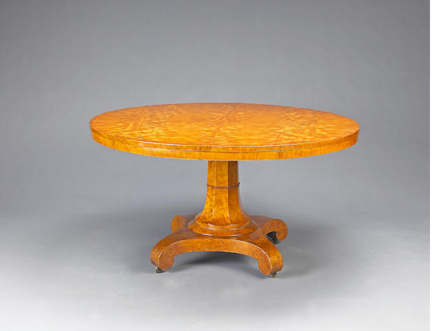 A William IV satinwood tilt top breakfast table