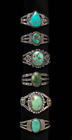Six Navajo bracelets
