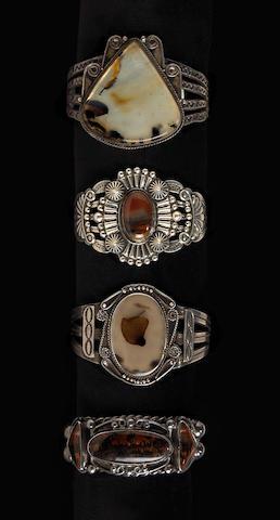 Four Navajo bracelets