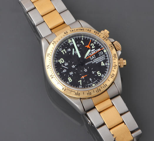 A stainless steel automatic chronograph bracelet wristwatch, Fortis