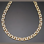 An eighteen karat gold link necklace, Tiffany & Co.
