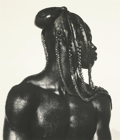 Herb Ritts (American, 1952-2002); Fall 2009 Fine Photos Djimon with Octopus, Hollywood;