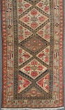 A Shahsavan runner size approximately 3ft. x 9ft. 2in.