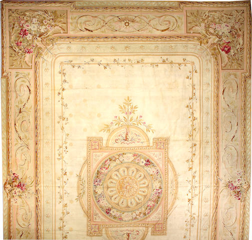 An Aubusson tapestry France, size approximately 15ft. 4in. x 22ft. 8in.
