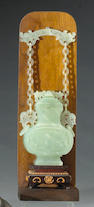 A Chinese jadeite hanging vase