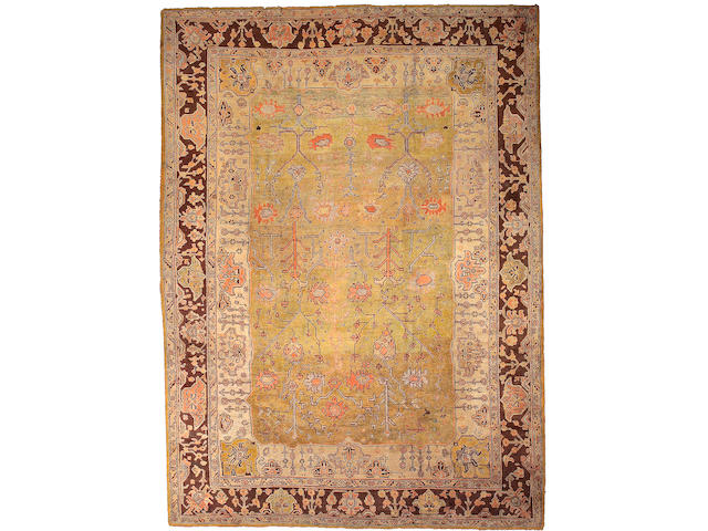 A Oushak rug West Anatolia, size approximately 11ft. 4in. x 15ft. 8in.