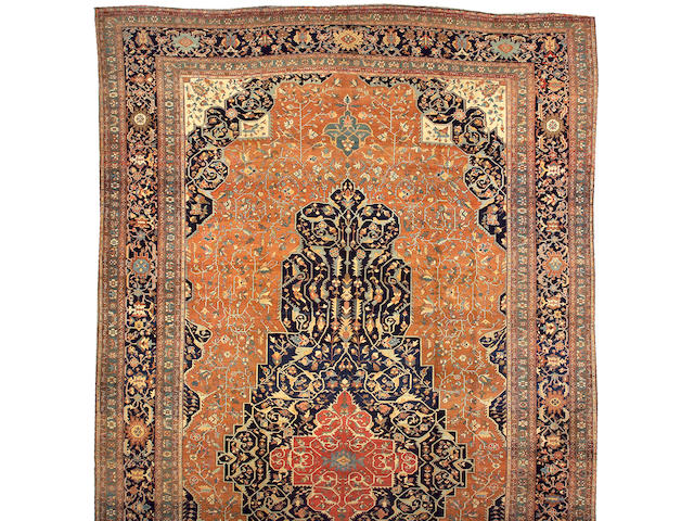 A Fereghan Sarouk carpet Central Persia size approximately 14ft. 3in. x 25ft.