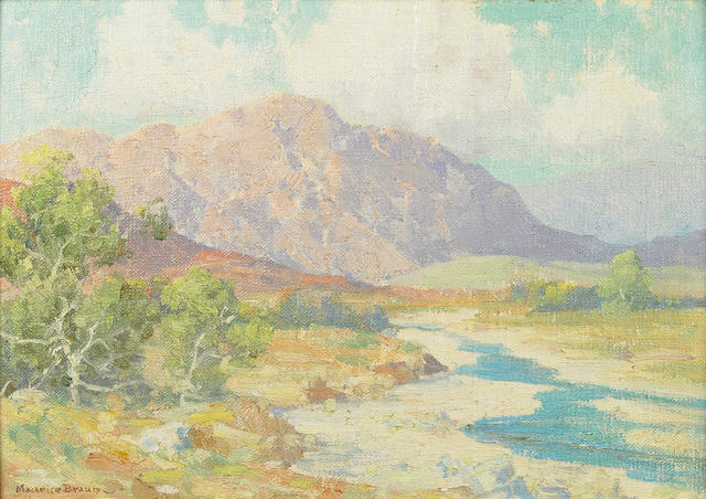 Maurice Braun (American, 1877-1941) River Bed, Tucson Arizona March 1926