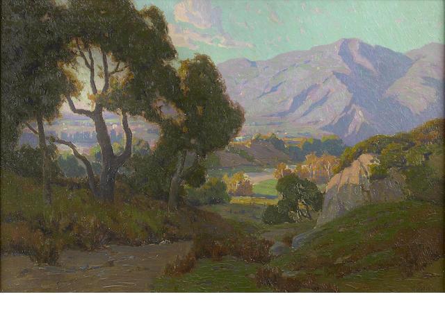 Elmer Wachtel (American, 1864-1929) View of a Valley