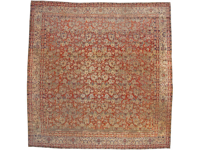 A Mohtasham Kashan carpet Central Persia size approximatley 12ft. 5in x 12ft. 9in.