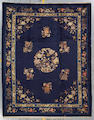 A Chinese carpet late 19th century size approximately 9ft. 1in. x 11ft. 6in.