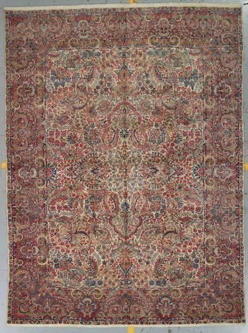 A Kerman carpet South Central Persia, size approximately 8ft. x 11ft. 3in.